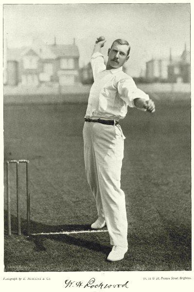 Associate Product SURREY CRICKET.Lockwood-best fast bowler England STODDART'S Team Australia 1896