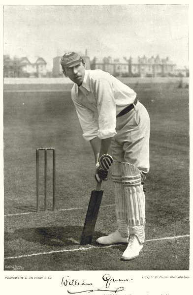 Associate Product NOTTINGHAMSHIRE CRICKET. GUNN- Batsman Played football for England 1896 print