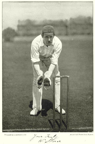 Associate Product DERBYSHIRE CRICKET. STORER- wicket keeper batsmen Players 1896 old print