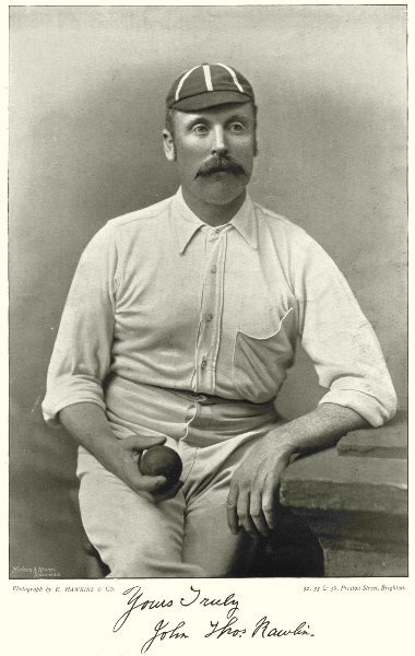 Associate Product MIDDLESEX YORKSHIRE CRICKET. RAWLINS- all- rounder; fast bowler 1896 old print