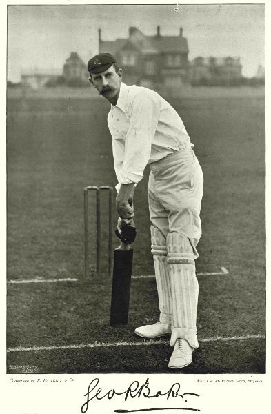 Associate Product LANCASHIRE CRICKET. BAKER- A Yorkshireman by birth All- round Cricketer 1896