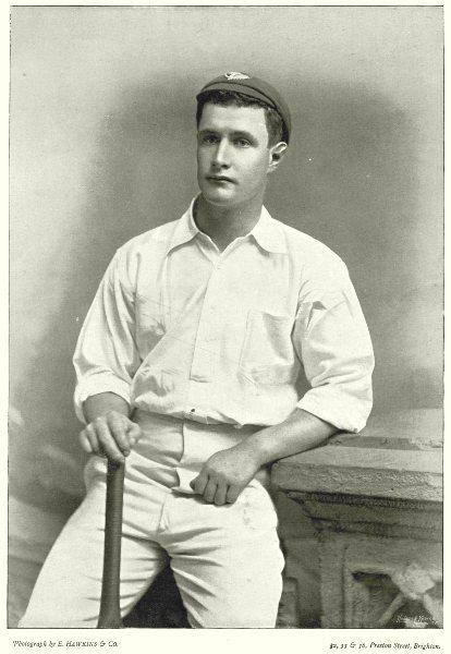AUSTRALIA CRICKET. GRAHAM- Australian 1893 Team Victoria Batsman- fielder 1896