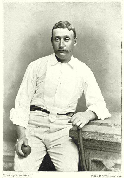 Associate Product AUSTRALIA CRICKET. GHS Harry TROTT- all-rounder; slow leg- breaks Victoria 1896