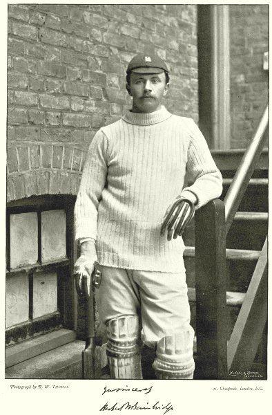 Associate Product WARWICKSHIRE CRICKET. HW BAINBRIDGE- Captain of Eton, Cambridge Batsman 1896