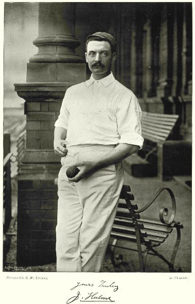 Associate Product DERBYSHIRE CRICKET. Hulme- left handed bowler 1896 old antique print picture
