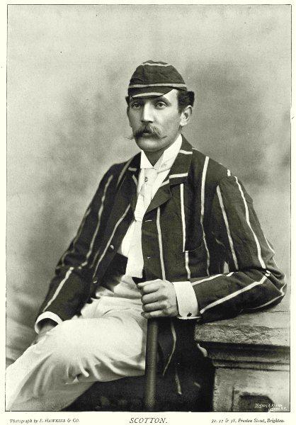 Associate Product NOTTS CRICKET. SCOTTON- Batsman; Stonewaller MCC England v Australia 1884 1896