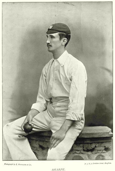 Associate Product SURREY CRICKET. SHARPE- Fast swing bowler SHEFFIELD'S 11 Australia 1896 print