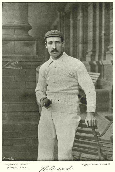 Associate Product ESSEX CRICKET. MEAD- medium pace bowler Took 17 Australian wickets 1893 1896