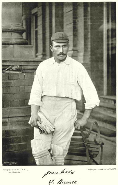 ESSEX CRICKET. RUSSELL- wicket keeper 1896 old antique vintage print picture