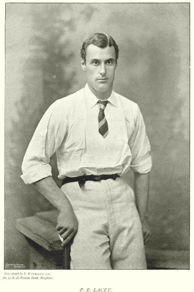Associate Product HANTS CRICKET.FE LACEY-Batsman;Sherborne,Cambridge blue;323 NO v Norfolk 1896