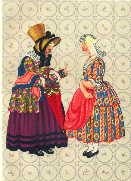 Associate Product NETHERLANDS. Early Nineteenth- Century Costume in Groningen 1932 old print