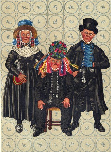 Associate Product NETHERLANDS. Staphorst. Ceremonial dress- 2nd half of 19th century 1932 print