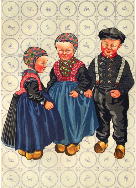 Associate Product NETHERLANDS. Staphorst and Rouveen. Boys Dress, as still worn 1932 old print