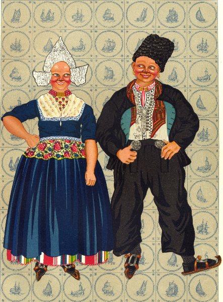 Associate Product NETHERLANDS. Volendam. Old Costume 1932 vintage print picture