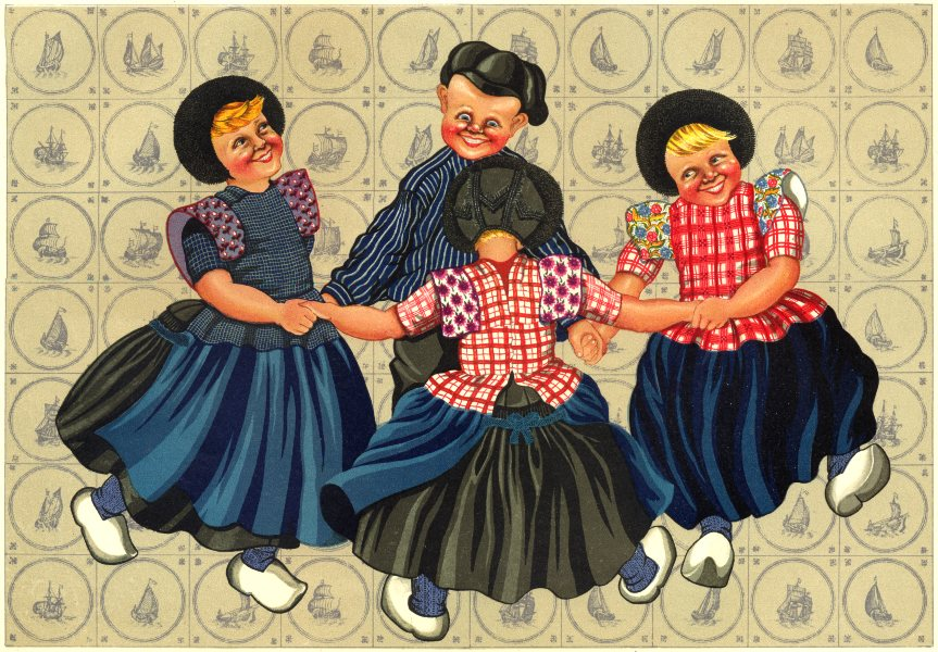 Associate Product NETHERLANDS. Spakenburg and Bunschoten. Boys and Girls Dancing 1932 old print