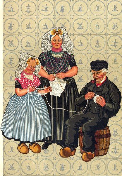 Associate Product NETHERLANDS. South Beveland Roman Catholics. present- day dress 1932 old print