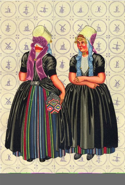 Associate Product NETHERLANDS. Walcheren. special occasion dress, 1860- 90 1932 old print