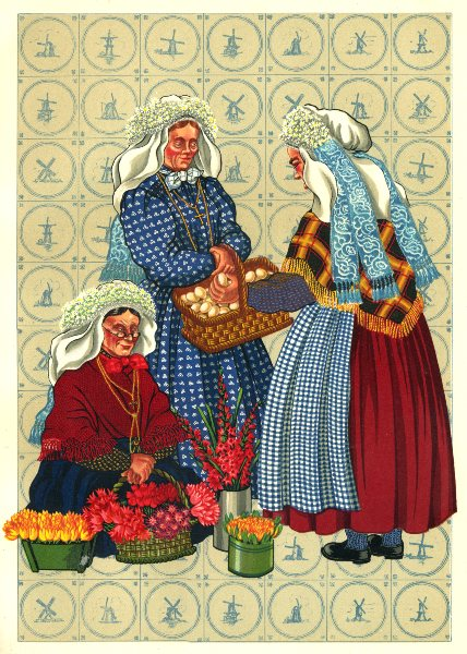 Associate Product NETHERLANDS. Market at 's Hertogenbosch (Bois- le- Duc)  1932 old print