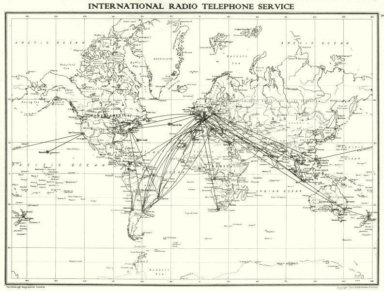 World international radio telephone service 1938 old vintage map item specifics gumiabroncs Gallery