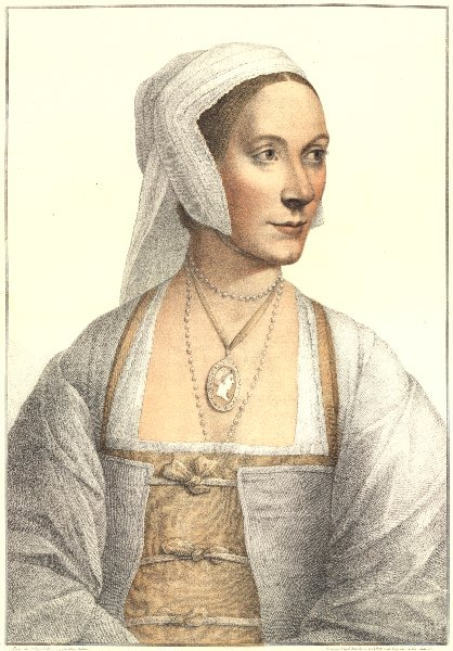 Marie Anne Bourlier by Bartolozzi after Hans Holbein. Henry VIII's court 1884