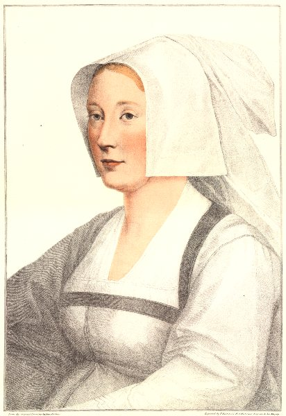 Associate Product Unknown Lady from court of Henry VIII (1) by Bartolozzi after Hans Holbein 1884