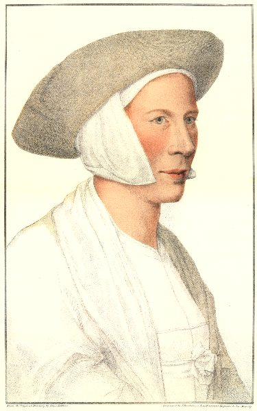 Associate Product Unknown Lady from court of Henry VIII (3) by Bartolozzi after Hans Holbein 1884