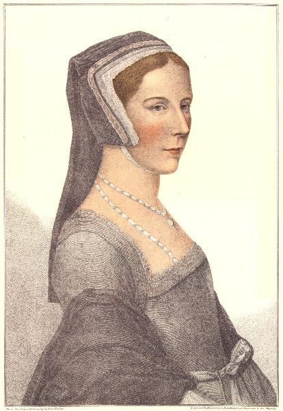Unknown Lady from court of Henry VIII (4) by Bartolozzi after Hans Holbein 1884