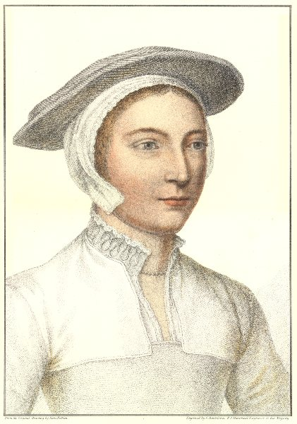 Unknown Lady from court of Henry VIII (5) by Bartolozzi after Hans Holbein 1884