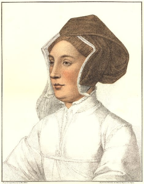 Associate Product Unknown Lady from court of Henry VIII (6) by Bartolozzi after Hans Holbein 1884