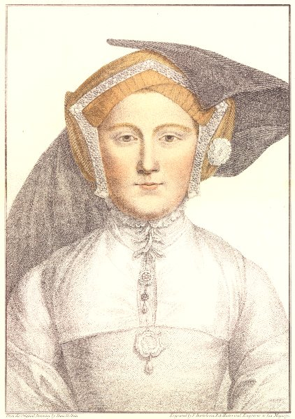 Associate Product Unknown Lady from court of Henry VIII (7) by Bartolozzi after Hans Holbein 1884
