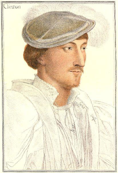 Edward Fiennes/Clinton 1st Earl Lincoln Bartolozzi/Holbein Henry VIII court 1884