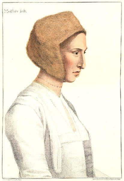 Mother Jak nurse to King Edward VI. Bartolozzi/Holbein. Henry VIII's court 1884