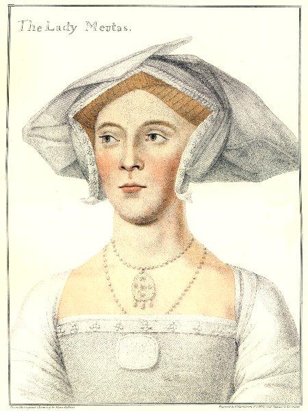 Associate Product Lady Jane Meutys. Joan Ashley. Bartolozzi/Holbein. Henry VIII's court 1884