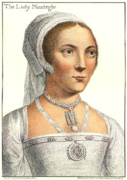 Mary Brandon, Baroness Monteagle by Bartolozzi/Holbein. Henry VIII's court 1884