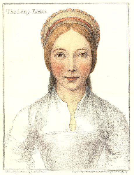 Associate Product Elizabeth Calthorpe, Lady Parker by Bartolozzi/Holbein. Henry VIII's court 1884