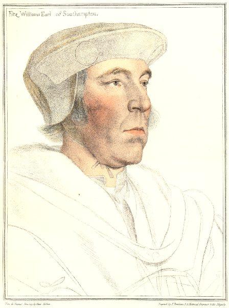 Associate Product William FitzWilliam 1st Earl Southampton. Bartolozzi/Holbein. Henry VIII 1884