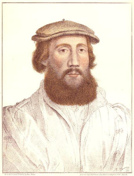 Charles Brandon, Duke of Suffolk by Bartolozzi/Holbein. Henry VIII's court 1884