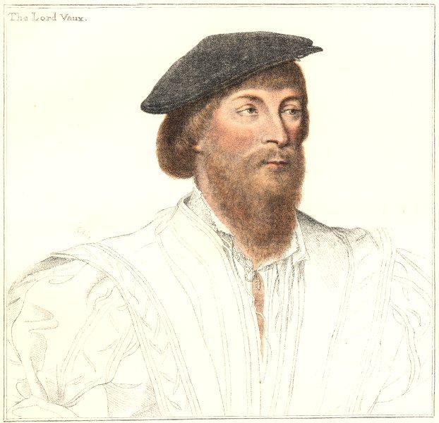 Associate Product Thomas, 2nd Baron Vaux of Harrowden. Bartolozzi/Holbein. Henry VIII's court 1884