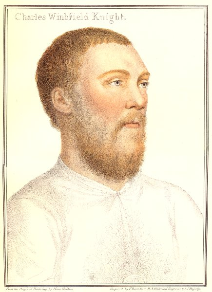 Associate Product Sir Charles Wingfield by Bartolozzi after Hans Holbein. Henry VIII's court 1884