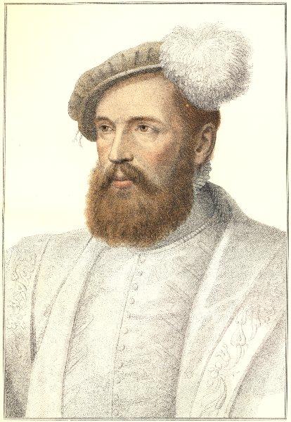 Associate Product Monsieur de Saincte Corneille by Bartolozzi / Holbein. Henry VIII's court 1884