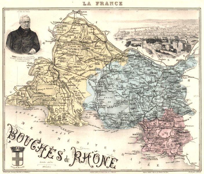 Associate Product BOUCHES-DU-RHÔNE. Bouches-du-Rhône département. Marseille. Vuillemin 1903 map