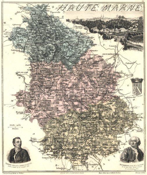 Associate Product HAUTE-MARNE. Haute-Marne département.  Chaumont vignette. Vuillemin 1903 map