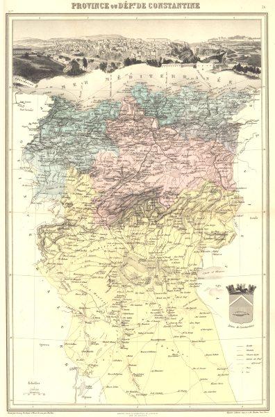 ALGERIA. Province de Constantine. Vuillemin. 1903 old antique map plan chart
