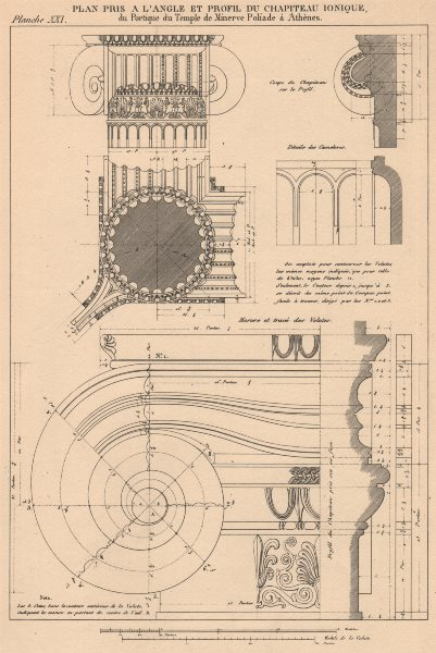Associate Product IONIC ARCHITECTURE. Temple of Minerva Polias, Athens. Details of Capital 1931