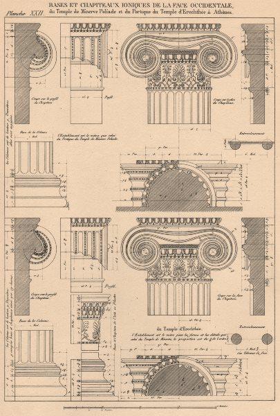 Associate Product IONIC ARCHITECTURE.Temple Minerva Polias Erechtheion,Athens.Bases Capitals 1931