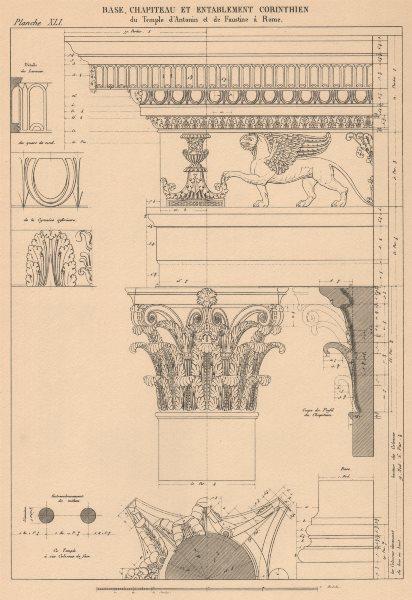 Associate Product CORINTHIAN ARCHITECTURE. Temple Antoninus Faustinus, Rome. Base Capital 1931