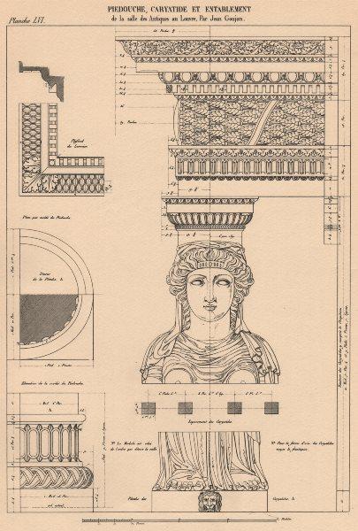 Associate Product CLASSICAL ARCHITECTURE. Caryatides & Entablature.  (Louvre, Paris. Goujon)  1931