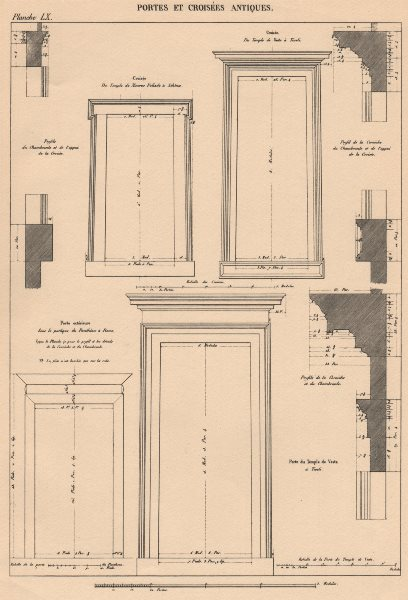 Associate Product CLASSICAL ARCHITECTURE. Antique doors and windows 1931 old print