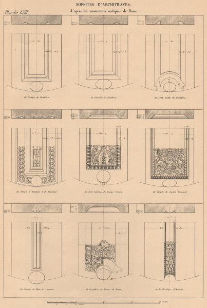 Associate Product CLASSICAL ARCHITECTURE. Soffits of Architraves 1931 old vintage print picture