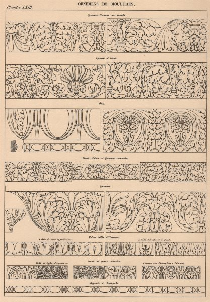 Associate Product CLASSICAL ARCHITECTURE. Ornamental details of mouldings 1931 old vintage print